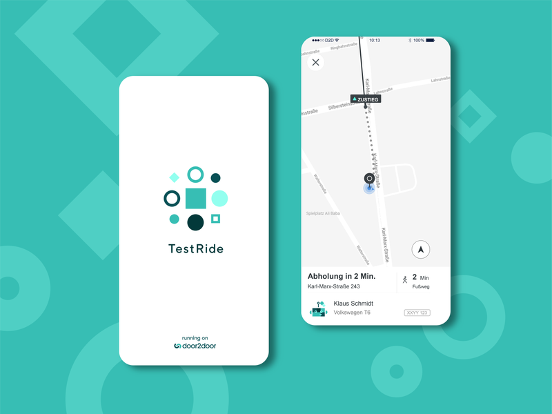 TestRide - Branding ux ui brand vector scientific laboratory test testing mobility logo icon splash screen splashscreen ui  ux app branding and identity branding
