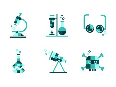 TestRide - Icons pixel art pixel branding scientific lab science laboratory flat app icon icons ux ui brand vector illustration