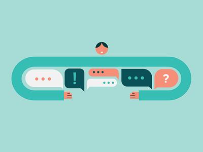 Inclusive language minimal hug design brand vector colours co workplace conversation speech illustration language inclusive
