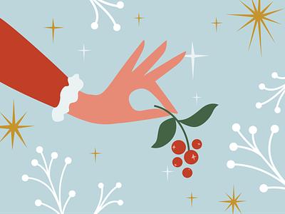 Nikolaustag notes santaclaus santa holidays stars snow mistletoe christmas object design vector illustration