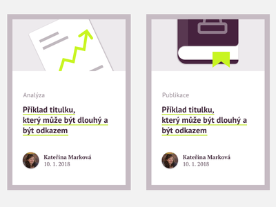 Examples of cards for publications ui web pictograms