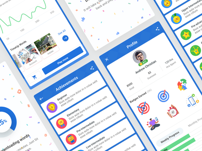 Android app screens game android app mobile app illustration interface minimal clean ux design ui