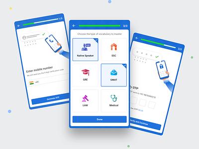Login Flow android app flat mobile app mobile ui interface minimal clean design ux