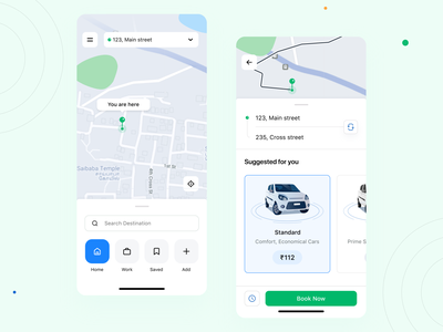 Taxi app taxi booking app app taxi mobile ui interface minimal ux clean design ui