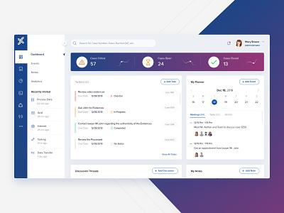 Dashboard progress case threads cool ux webapp interface clean flat minimal navigation notes calendar planner todo ui design