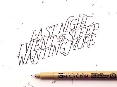 More lyrics handmade type typography lettering hand