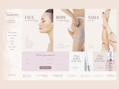 Cosmetology webdesign