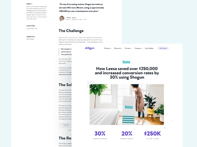 Shogun Case Studies— Closer Look case studies graphicdesign branding typography ui ecommerce landing page saas