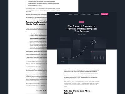 Shogun Frontend Blog— Design branding blog enterprise design clean ecommerce landing page saas