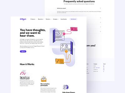 Shogun UXR— Design saas design design clean illustration landing page ecommerce branding saas
