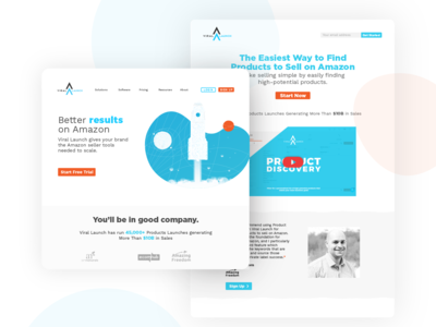 SAAS Landing Page Concepts