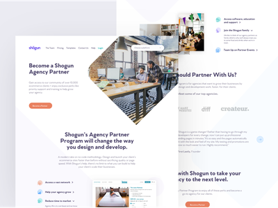 Agency Partner Landing Page saas website saas design landing page agency website partners page agency landing page agencies agency