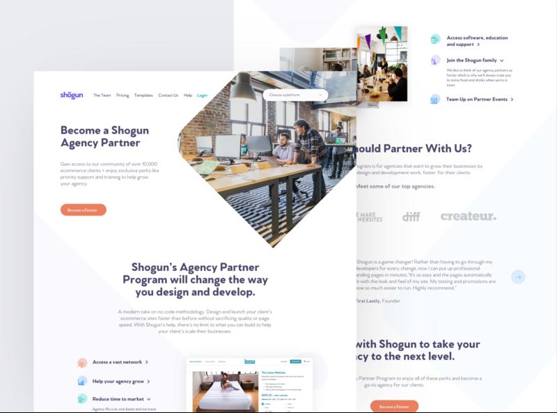 Agency Partner Landing Page saas website saas design landing page agency website partners page agency landing page agencies agency