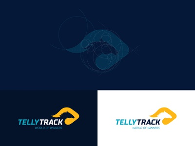 Tellytrack Rebranding rebranding horse logo video motion graphics motion yellow broadcast broadcast design soth africa soth africa horse betting horse racing logo branding 2d clean blue