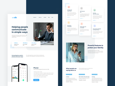 Appsverse Website ui calling app messaging app safety secure second phone number privacy policy security vpn app uidesign webdesign clean uiux blue