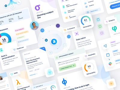 UI Elements ui elements webdesign saas automation prospects ui kit blue sales reps artificial intelligence ai sales intelligence sales intelligence clean sales