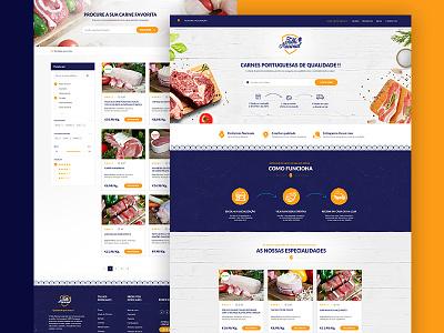 Talho Nacional meat web uidesign webdesign uiux
