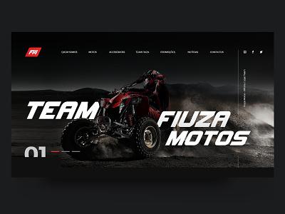 Fiuza Motos Banner banner webdesign uidesign