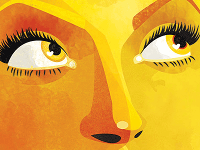 Yellow female yellow portrait