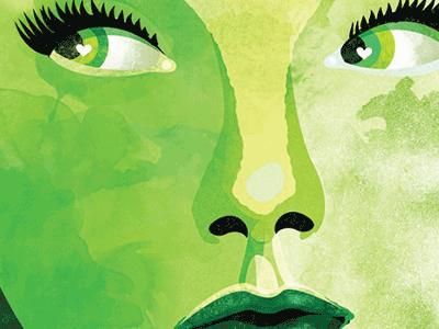 Green female green portrait
