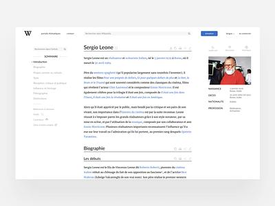 Wikipedia Redesign webdesign redesign figma wikipedia ui ux