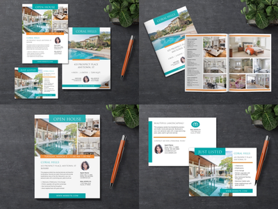 Real Estate Marketing Template Package marketing real estate design template