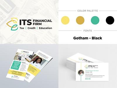 Branding for Financial Firm rack card business card style guide firm financial logo logo design branding