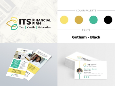 Branding for Financial Firm rack card business card style guide firm financial logo logo design branding