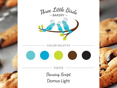 Three Little Birds Bakery Logo birds logo design bakery bakery logo logo