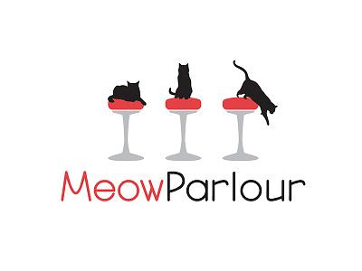 Logo Concept for Meow Parlour logo design cats logo concept