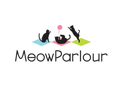 Logo Concept #2 for Meow Parlour cats logo design logo concept