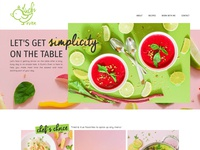 Food Blog Website Design