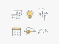 Cloud Sales Icons