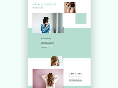 A Passion for Hair green geometric salon mint web website