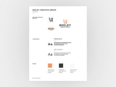 Reeley Creative Brand Guide minimalist orange branding brand guide fox logo