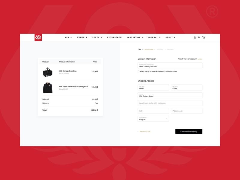 Daily UI 02 - Checkout web design redesign digital dailyui challenge adobexd adobe @dailyui visual design ux ui redesigned