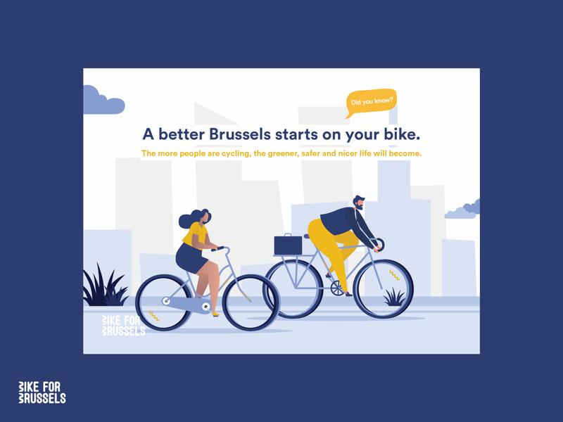 Bike for Brussels 2019 branding illustration design visual design adobexd adobe