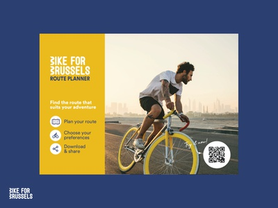 Bike for Brussels 2018 adobe illustrator app visual design branding illustration print design adobe
