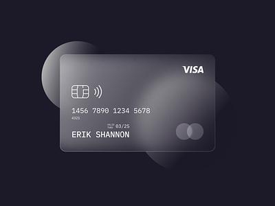 Glassmorphism design noise texture bankcard bank visa glassmorphism gradient vector visual design adobexd adobe