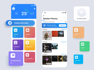 CleanX Mobile Cloud Storage App design ux ui mobile app