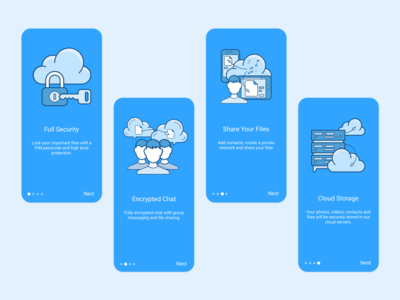 Cloud Plus App design logo vector mobile app ux ui