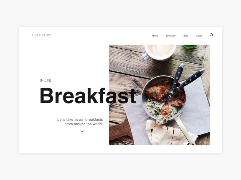 GoodMo breakfast morning typography website web iphone ios ux ui sketch design