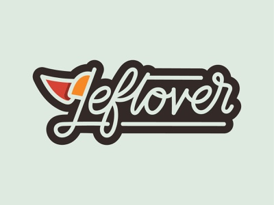 Leftover Typography Flag flag slice pizza branding logo typography design brand illustration