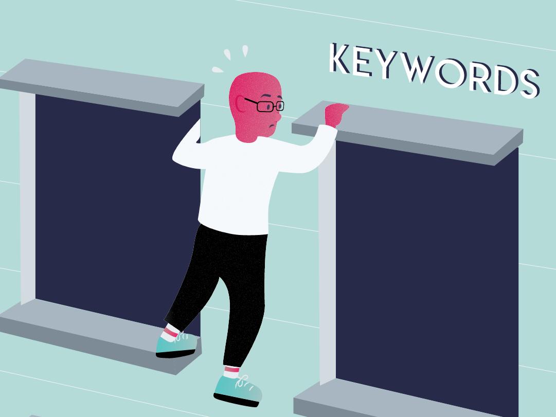 Mission Impossible - finding keywords people branding vector design illustration