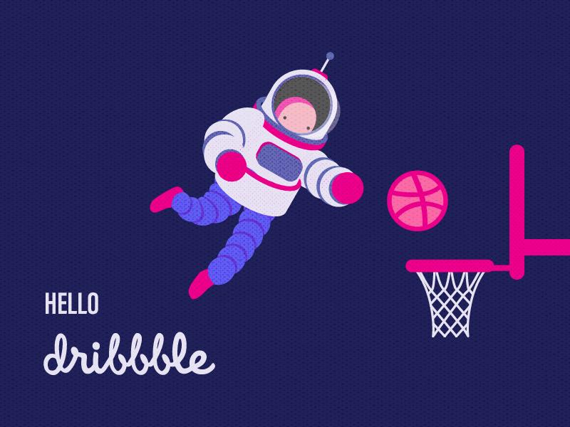 Hello Dribbble! illustration