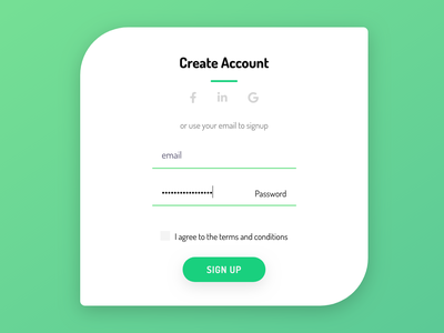 DailyUI 001 - Sign Up Form