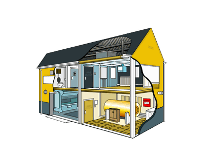 Industrial property illustration property vector industrial building