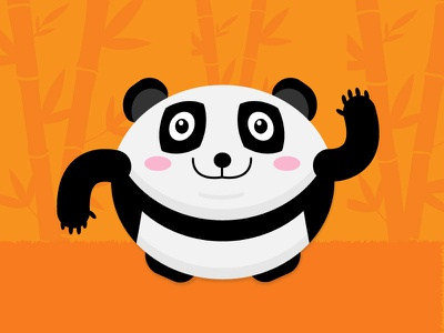 Free Panda Vector white black orange oval minimal panda download free vector