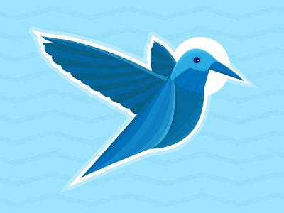 The humming of peace love spread peace minimal vector bird humming