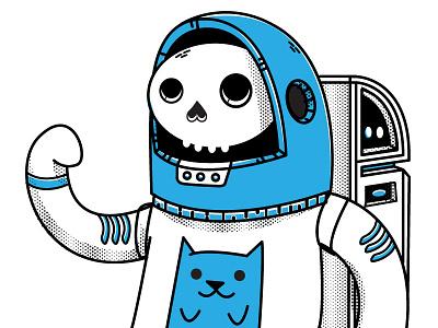 Red vs Blue vector rebound suit space cat astronaut